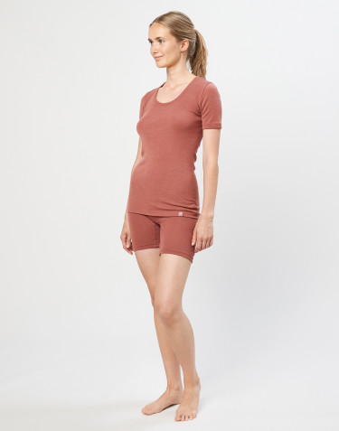 Women's merino wool shorts- rouge