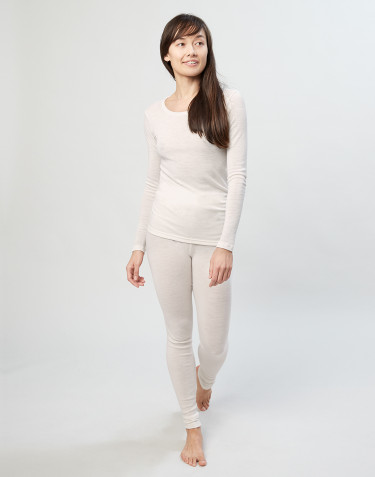 Women's merino wool leggings- nature