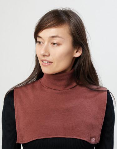 Women's organic merino wool neckwarmer- rouge