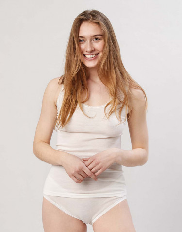Women's merino wool tank top- nature