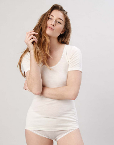 Women's merino T-shirt- nature