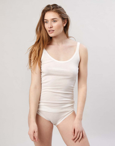 Women's merino wool cami- nature