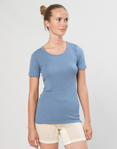 Women's merino wool t-shirt- Blue