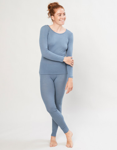 Women's merino wool leggings- Blue