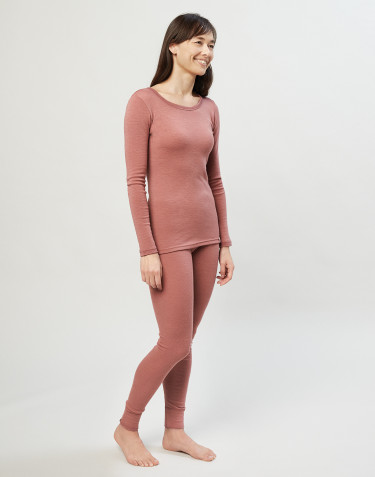 Women's merino wool leggings- Dark Pink