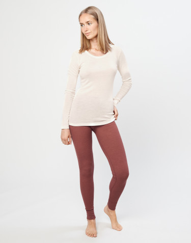 Women's merino wool leggings- rouge
