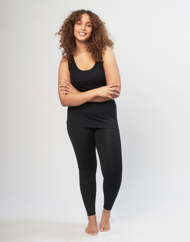 DILLING women's plus size wool leggings- black