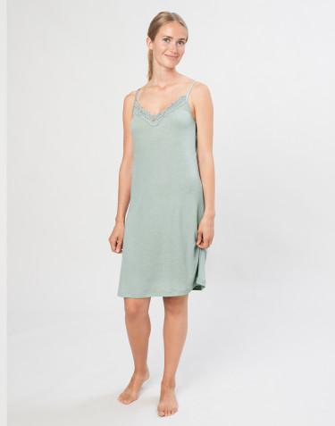Women's natural wool/silk dress- Pastel Green