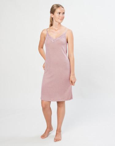 Women's natural wool/silk dress- Pastel Pink
