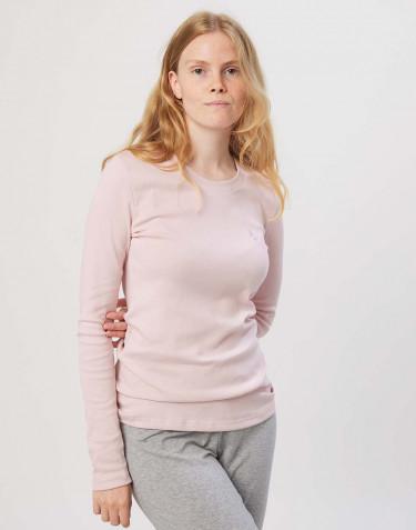 Women's cotton pyjama top- rose