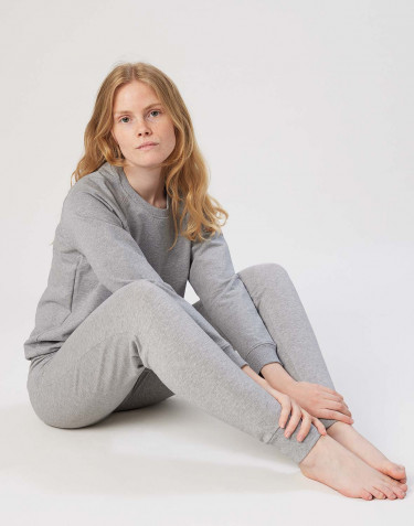 Women's sweatshirt- grey melange