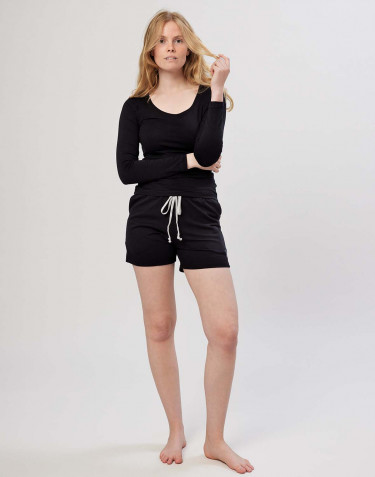Women's cotton shorts- black