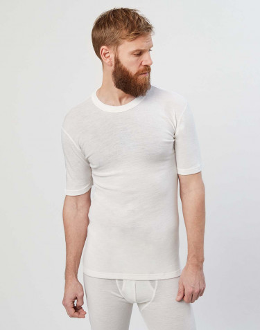 Men's merino wool T-shirt- nature