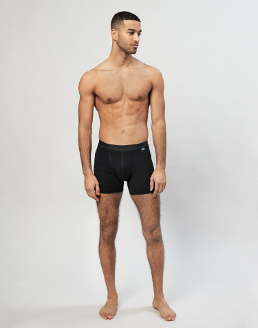 Men's merino wool boxer shorts- black