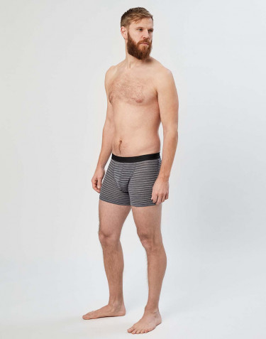 Men's merino boxer shorts- Grey stripe