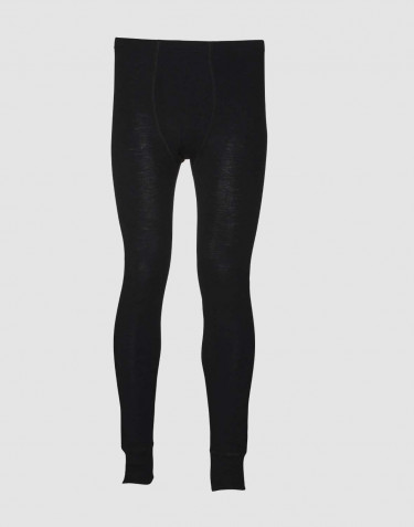 DILLING men's plus size merino wool long johns- black