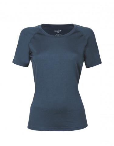 Women's exclusive merino wool T-shirt- dark blue
