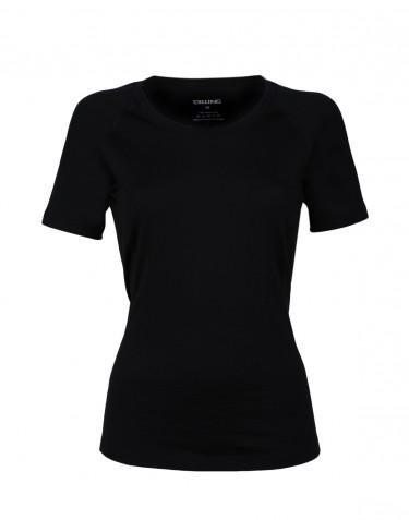 Women's exclusive merino wool T-shirt - black