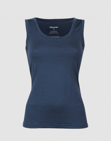 Women's exclusive merino wool tank top - dark blue
