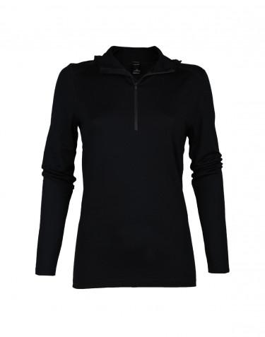 Women's exclusive merino wool hoodie- black