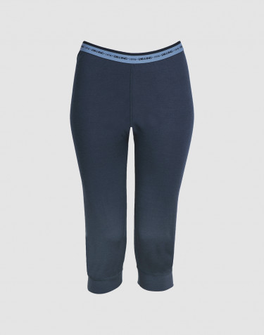 Women's exclusive merino wool 3/4 length leggings - dark blue