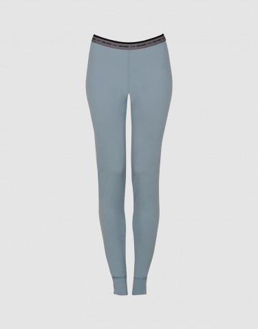 Women's exclusive merino wool leggings - mineral blue