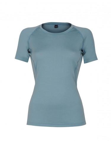 Women's exclusive merino wool T-shirt- mineral blue