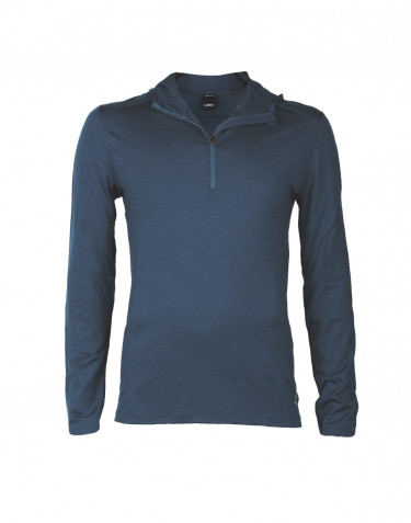 Men's exclusive merino wool hoodie- dark blue