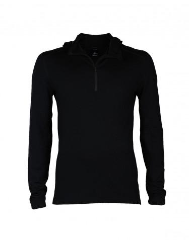 Men's exclusive merino wool hoodie- black