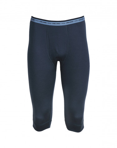 Men's exclusive merino wool ¾ leggings- dark blue