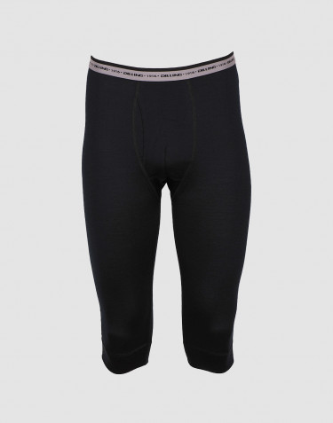 Men's exclusive merino wool 3/4 leggings- black