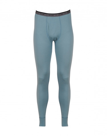Men's exclusive merino wool long johns- mineral blue