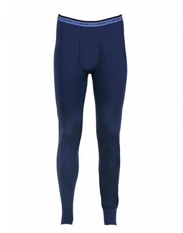 Men's exclusive merino wool long johns- dark blue