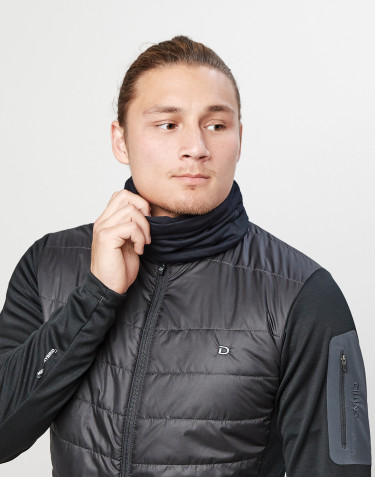 Men's exclusive merino wool neck warmer- black