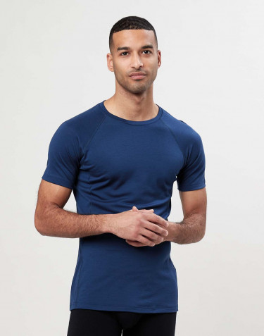 Men's exclusive merino wool T-shirt- dark blue