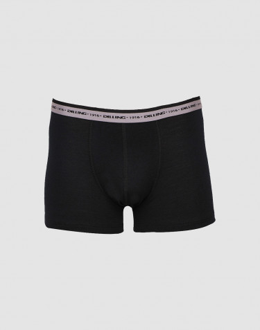Men's exclusive merino wool boxer shorts- black