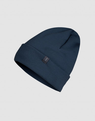 DILLING wool terry hat- dark petrol blue
