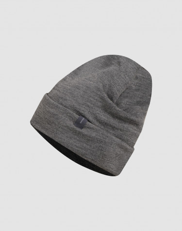 Wool terry hat- dark grey melange