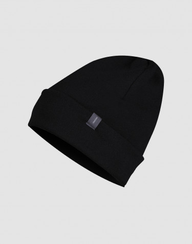 Wool terry hat- black