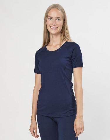 Women's exclusive organic merino wool T-shirt- Navy