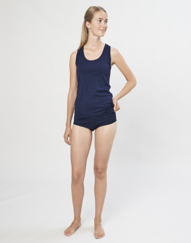 Women's exclusive organic merino wool hipsters- Navy