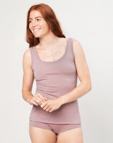 Women's exclusive organic merino wool tank top- Dusty Pink