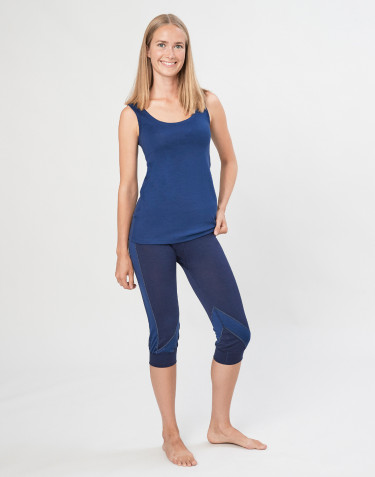 Women's exclusive organic merino wool 3/4 leggings- Navy