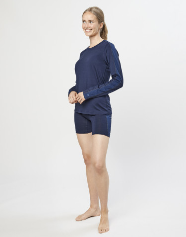 Women's exclusive organic merino wool shorts- Dark Blue