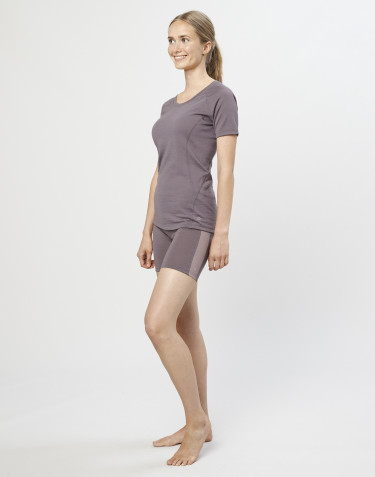Women's exclusive organic merino wool shorts- lavender grey