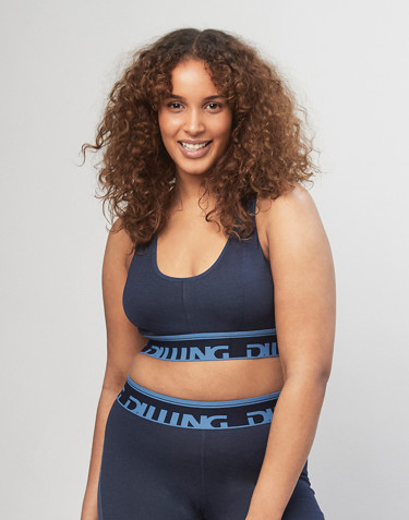 Merino wool sports bra- Navy