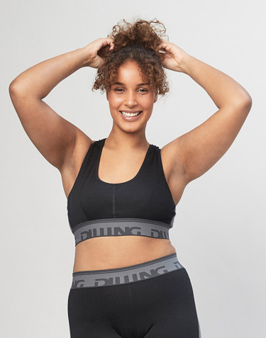 Merino wool sports bra- Black