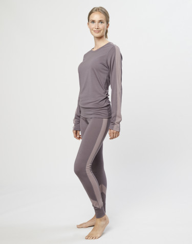 Women's exclusive organic merino wool leggings- lavender grey