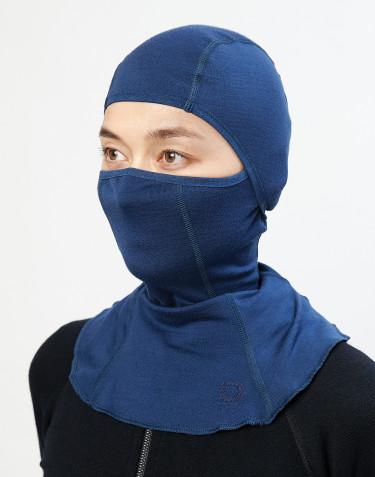 Women's exclusive organic merino wool balaclava- Dark Blue