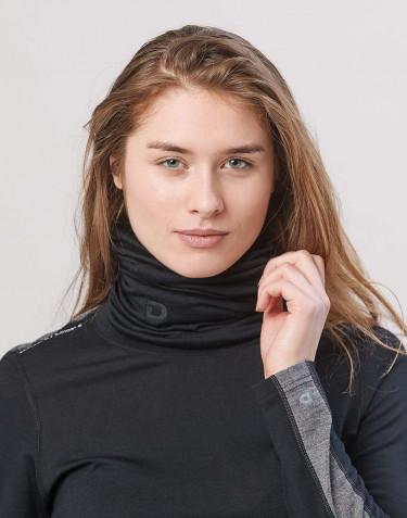 Women's exclusive merino wool tube scarf- Black